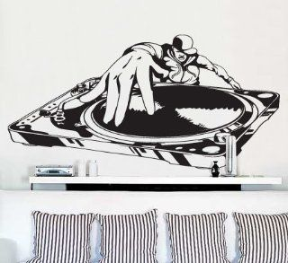 "Vinyl Wall Art Decal Sticker DJ Turntable Urban Music Decor BIG 40"" Wide x 20"" Tall #335   Other Products"