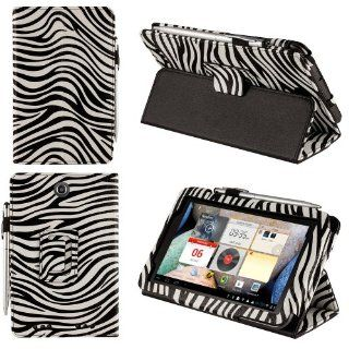 HHI UrbanFlip Series Stand Case for Lenovo IdeaTab A2107   Black/White Zebra (Package include a HandHelditems Sketch Stylus Pen) Computers & Accessories