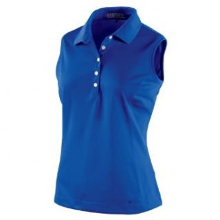 NIKE Women's Tech Pique Sleeveless Golf Polo Shirt, Game Royal, X Large  Sports & Outdoors