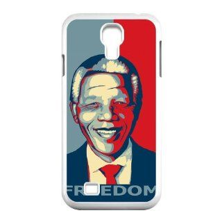 Freedom Fighter Nelson Mandela Inspired Design Plastic Custom Case Design Cases For Samsung Galaxy S4 I9500 s4 NY351 Cell Phones & Accessories