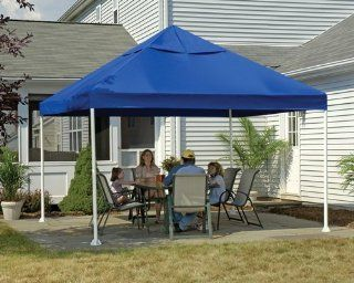ShelterLogic 12 x 12  Feet Canopy 2  Inch 4 Leg Frame, Blue Cover  Outdoor Canopies  Sports & Outdoors