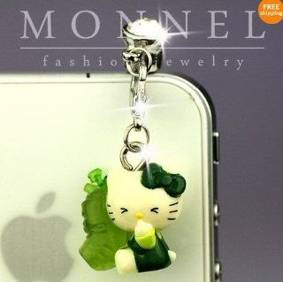 Ip361 Cute Hello Kitty Anti Dust Plug Cover Charm for Iphone 4 4s Cell Phones & Accessories