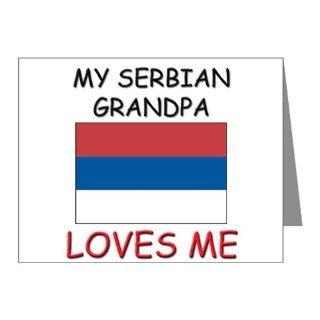 My Serbian Grandpa Loves Me Note Cards Pk of 10   Standard Multi co Blank Note Cards