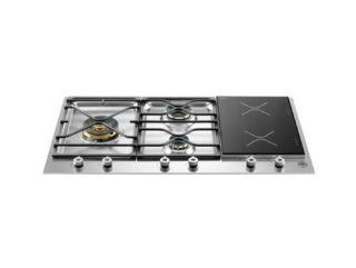"Bertazzoni PM363I0X Professional 36"" Stainless Steel Dual Fuel Induction Cooktop Appliances"