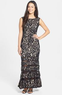 Betsy & Adam Lace & Mesh Gown