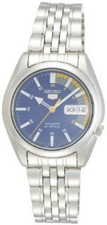 Seiko Men's Automatic Blue Dial Stainless Steel Watch SNK371K Watches