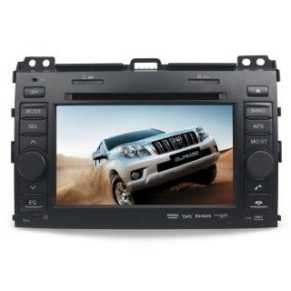 "Tyso For TOYOTA Land Cruiser Prado (2003 2009) 7"" CAR DVD Player GPS Bluetooth Free Map CD6016G  In Dash Vehicle Gps Units"