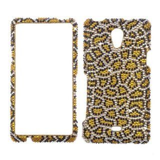 FULL DIAMOND CRYSTAL STONES COVER CASE FOR SONY XPERIA TL CHEETAH PRINT Cell Phones & Accessories