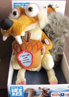"Ice Age SHIVERING SCRAT Plush FIGURE w Acorn, SOUNDS & Shaking TOYS ""R""US EXCLUSIVE (2012) Toys & Games"