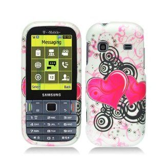 Aimo Wireless SAMT379PCLMT100 Durable Rubberized Image Case for Samsung Gravity TXT T379   Retail Packaging   Hearts Cell Phones & Accessories
