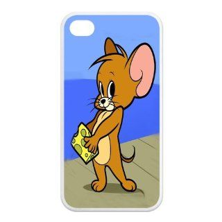 Mystic Zone Tom And Jerry iPhone 4 Case for iPhone 4/4S Cover lovely Cartoon Fits Case KEK0229 Cell Phones & Accessories
