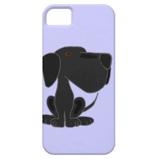 Funky Black Labrador Puppy Dog iPhone 5 Cover