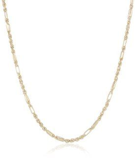 "Duragold 14k Yellow Gold Diamond Cut Milano Rope Chain Necklace, 24"" Jewelry"