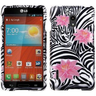 Pink Flower Black White Zebra Hard Case Cover For LG LTE US780 Optimus F7 with Free Pouch Cell Phones & Accessories