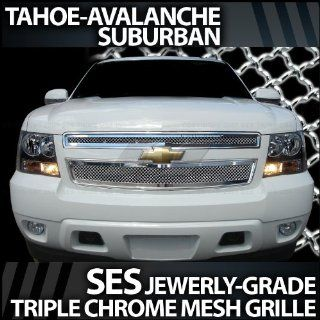 2007 2012 Chevy Avalanche SES Chrome Mesh Grille Automotive