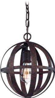 Troy F2511WI   Small Globe Pendant   1 Light   Weathered Iron Finish   Flatiron Collection   Ceiling Pendant Fixtures