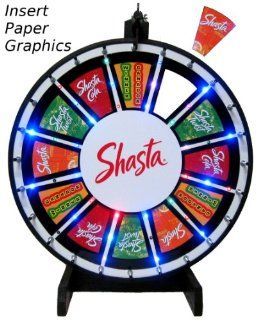 24in Insert Your Own Graphics Prize Wheel with RGB Blinking LED Lights  Casino Prize Wheels  Sports & Outdoors