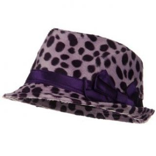 Dalmatian Fedora with Satin Bow   Lavender W19S39E