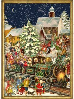 Victorian Christmas Train German Advent Calendar (approx 10.5 x 14 inches) (765) Toys & Games