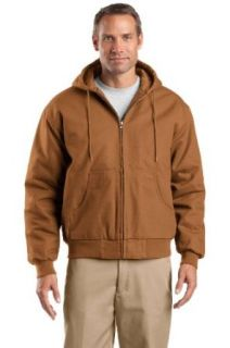 CornerStone   Duck Cloth Hooded Work Jacket. Work Utility Outerwear Clothing