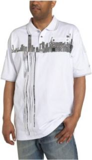 Coogi Men's Cotton NYC Polo, White/Grey, X Large at  Men�s Clothing store