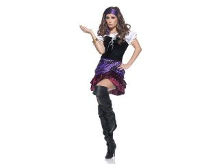 Miss Fortune Teller Circus Girl Mini Dress Costume Adult Large