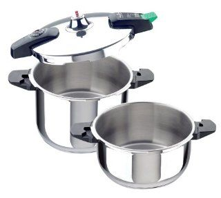 Magefesa 01OPEUROP64 3 Piece Rapid III Stainless Steel Super Fast Pressure Cooker, 4 and 6 Quart Kitchen & Dining
