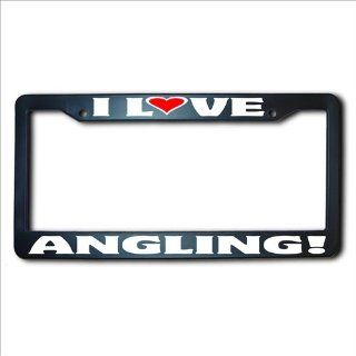 ANGLING I Love REFLECTIVE License Plate Frame USA Automotive