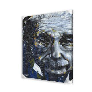 Albert Einstein Abstract Canvas Art, 24 by 36 Inch   Prints