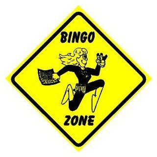 BINGO ZONE sign * street party game fun   Decorative Signs