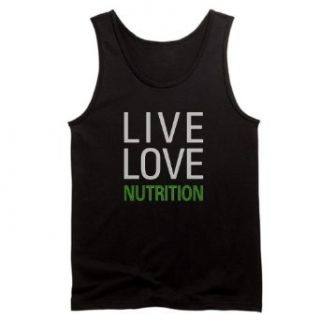 Live Love Nutrition Men's Dark Tank Top by    L Black Clothing