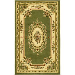 Lyndhurst Collection Transitional Sage/ivory Rug (33 X 53)