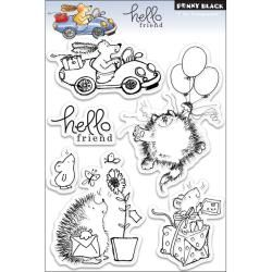 Penny Black Hello Friend Clear Stamps Sheet