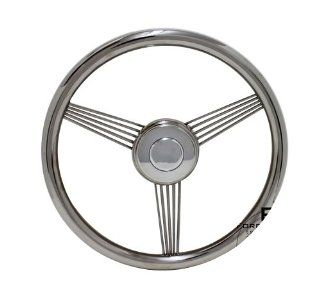"14"" Stainless Steel True Banjo Steering Wheel for All Ford Models Automotive"