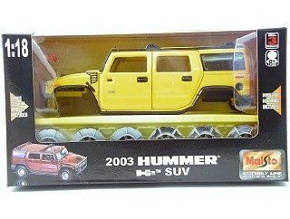 Maisto 2003 Hummer H2 SUV 118 Scale Die Cast Model Kit Toys & Games
