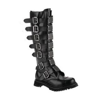 Men's Reaper 30, 30 Eyelet Metal Plates Leather Knee Boot Shoes