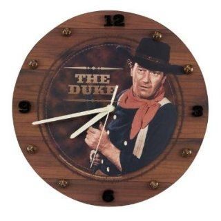 "JOHN WAYNE the DUKE 12"" WALL CLOCK Western decor NEW"