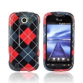 Red Black & Gray Argyle HTC MyTouch 4G Plastic Case Cover [Anti Slip] Supports Premium High Definition Anti Scratch Screen Protector; Durable Fashion Snap on Hard Case; Coolest Ultra Slim Case Cover for MyTouch 4G Supports HTC 4G Devices From Verizon,