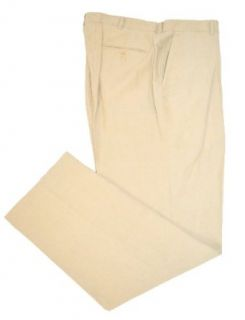 Polo Ralph Lauren Men's Beige Linen Silk Flat Front Pants Big&Tall 40TallX36L at  Men�s Clothing store