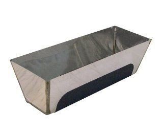 Bon 15 446 Stainless Steel Contoured Bottom Heliarc Mud Pan with Non Slip Grip, 10 Inch   Masonry Hand Trowels