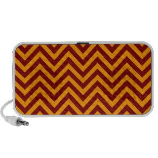 Orange and Maroon Chevron or Zigzags Stripes Notebook Speaker