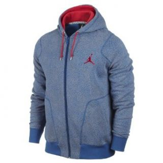 Nike Air Jordan Elephant Full Zip Mens Hoodie Sweatshirt 584059 434 True Blue XXL at  Men�s Clothing store