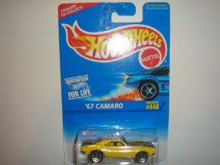 Hot Wheels   '67 Camaro (Chevrolet)   Collector #448   Yellow Body Color   5 Hole Wheels   Malaysia Toys & Games
