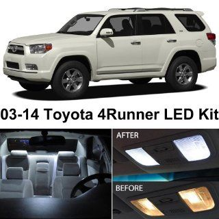 Toyota 4Runner 2003 2014 Xenon White Premium LED Interior Lights Package Kit (10 Pieces) Automotive