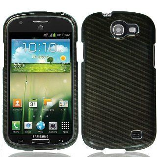 Black Carbon Fiber Print Hard Cover Case for Samsung Galaxy Express SGH I437 Cell Phones & Accessories