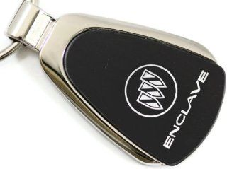 Buick Enclave Black Teardrop Key Fob Authentic Logo Key Chain Key Ring Keychain Lanyard Automotive