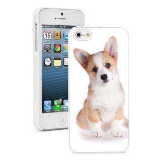 Apple iPhone 4 4S 4G White 4W453 Hard Back Case Cover Color Cute Corgi Puppy Dog Cell Phones & Accessories
