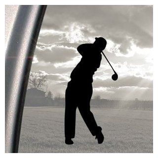 Golfer Black Decal Truck Bumper Window Vinyl Sticker   Automotive Decals