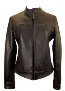 Knoles & Carter Women's Minimalistic Leather Jacket (XL, Brown)