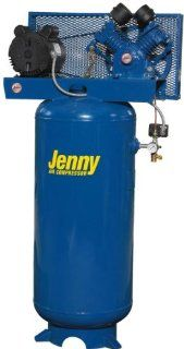 Jenny Compressors G5A 60V 460/3 5 HP 60 Gallon Tank 3 Phase 460 Volt, Vertical Electric Single Stage Stationary Compressor   Stacked Tank Air Compressors